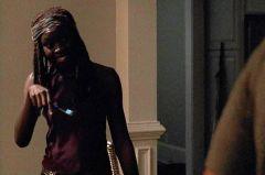 Michonne sees Rick sans beard