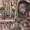 Michonne and the Zombie Twins